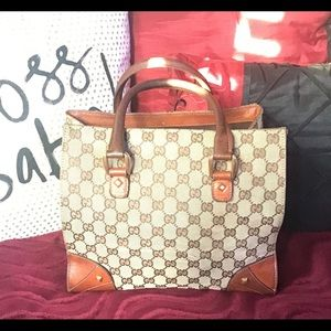 Gucci Monogram Canvas Handbag